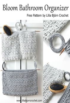 Bloom Bathroom Organizer: free crochet pattern