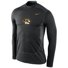 Missouri Tigers Nike Pro Combat Hyperwarm Max Shield Performance Crew – Black