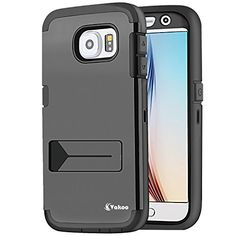 VAKOO For Samsung Galaxy S6 Heavy Duty Case Built-in Screen Protector Full-body Rugged High Impact Hybrid Protective Rubber Armor Kickstand Water Resistant Cover, Dual Layer Design + Impact Resistant Bumper (Black) Vakoo http://www.amazon.com/dp/B00WDSWODI/ref=cm_sw_r_pi_dp_qIpEvb0Z3GXY3