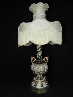 Antiques Large Antique Italian Porcelain Woman Figure Capodimonte Napoleon Lamp High Quality And Low Overhead