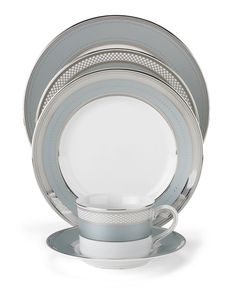 "tad too dark Lauren Ralph Lauren ""Silk Ribbon Slate"" Place Setting - Fine China - Dining & Entertaining - Macy's Bridal and Wedding Registry"