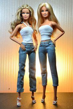 Barbie Basics Fashionistas hybrid by eitan_the_dragon, via Flickr