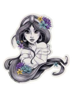 Disney Aladdin Jasmine Sketch Sticker   Hot Topic   $2.99