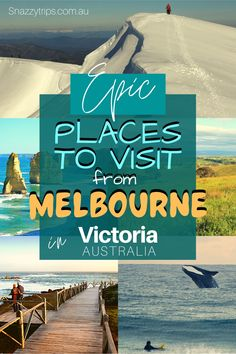 Best Places To Visit In Victoria - 8 Epic getaways from Melbourne, perfect for a few days stay. #melbournevictoria #victoriaaustralia #victoriadestinations Alpine Adventure, Travel Inspiration, Travel Ideas, Travel Info, Travel Tips, Perfect Road Trip, World Travel Guide, Amazing Destinations, Travel Destinations