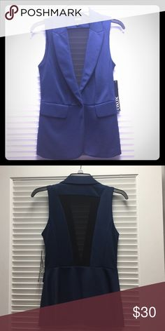 Beautiful blue best, causal and business like Never used XOXO Jackets & Coats Vests