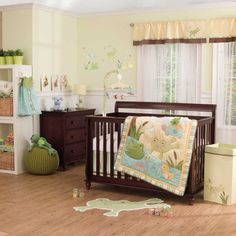 In the Pond 4 Piece Crib Bedding by Carter's - Frog , Duck, Turtle in Baby, Nursery Bedding, Nursery Bedding Sets Girl Nursery Bedding, Baby Crib Bedding Sets, Crib Sets, Nursery Room, Themed Nursery, Baby Bedroom, Baby Boy Rooms, Baby Boy Nurseries, Baby Cribs