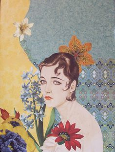 Mixed Media Collage Art | Collage Mixed Media by Kanchan Mahon - Laina Paper Collage Fine Art ...