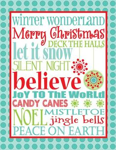 Eye Candy Event Details: {FREE Christmas Subway Art} - one of the cutest I've ever seen! Christmas Subway Art, Merry Christmas, Little Christmas, Winter Christmas, All Things Christmas, Christmas Ideas, Christmas Fonts, Christmas Signs, Christmas Pictures