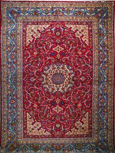 """Esfahan Persian Rug, Buy Handmade Esfahan Persian Rug 13' 3"""" x 19' 0"""", Authentic Persian Rug"""