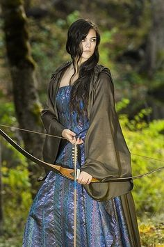 Although it wasn't widely known, she was quite a hand at the bow and would protect her family at all costs.