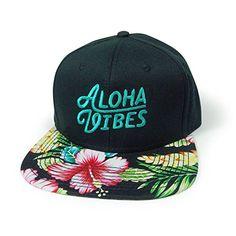 9d26c705cdfe0 WUE Aloha Vibes Black Snapback Structured Cap at Amazon Men s Clothing store