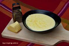 Sosul Mornay este un sos extrem de gustos, foarte fin, care are la baza sosulBéchamel Se serveste cu gratinate, legume, sparanghel, praz, oua fierte. Ingrediente (organice) – pentru o portie… Bechamel, Keep It Simple, Fondue, Cheese, Ethnic Recipes