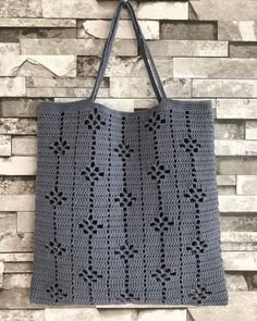 Ideas For Knitting Bag Diy Ganchillo Diy Crochet Cardigan, Débardeurs Au Crochet, Crochet Motifs, Crochet Tote, Crochet Handbags, Crochet Purses, Filet Crochet, Crochet Stitches, Knitting Patterns