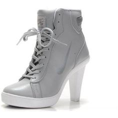 on sale 03ad7 2698f Cheap Sale Nike Heels Grey White Shoes Now