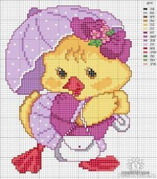 70 Super Ideas For Embroidery Bird Baby Chicks Cross Stitch For Kids, Cute Cross Stitch, Cross Stitch Bird, Cross Stitch Animals, Cross Stitch Charts, Cross Stitch Designs, Cross Stitching, Cross Stitch Embroidery, Embroidery Patterns
