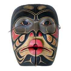 Transformation mask ~ North West Native American  [Cross posted from Masks] http://www.northwestcoastgallery.com/products-page/masks/transformation-mask/