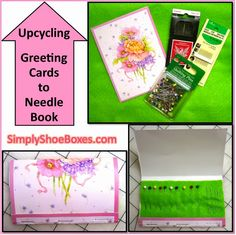 Simply Shoeboxes: Upcycling Greeting Cards Into Needle Books for Operation Christmas Child Shoe Box Gifts Christmas Child Shoebox Ideas, Operation Christmas Child Shoebox, Christmas Crafts For Kids, Christmas Boxes, Operation Shoebox, Paper Crafts, Diy Crafts, Shoebox Crafts, Pin Card