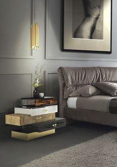 10 Moderne Nachtschränkchen Für Einen Luxusschlafzimmer Sommer-Trends #frank @bocadolobo  Sehen Sie mehr: http://wohnenmitklassikern.com/klassich-wohnen/sommer-trends-wie-sie-diesen-sommer-moderne-wohnzimmer-dekoration-schaffen/