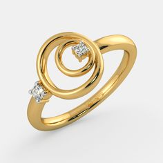 Rings - Buy Ring Designs Online in India 2020 Tiny Diamond Ring, Gold Diamond Wedding Band, Gold Ring Designs, Gold Jewellery Design, Gold Rings Jewelry, Hand Jewelry, Couple Ring Design, Silver Infinity Ring, Beautiful Rings