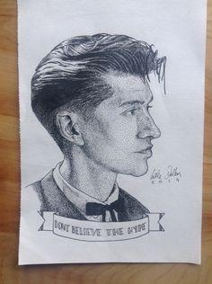 Alex Turner pointillism piece