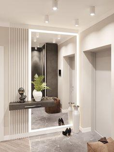 66 Stylish Homes With Modern Interior Design Modern Home Interior Design, Home Room Design, Modern Interiors, Interior Architecture, Entrance Hall Decor, Entrance Halls, Flur Design, Dressing Room Design, Apartment Interior