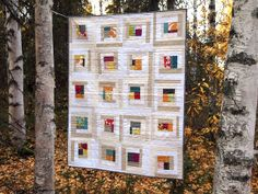 """Baby Ingrid v.2"" by Spotted Stone Studio (Krista). I love the Ingrid Press stuff these quilts were inspired by, and where Krista has taken the ideas!"