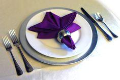 fleur de lis napkin fold with napkin ring