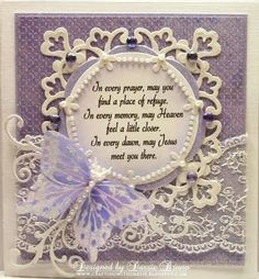 Spellbinders frame with a pretty butterfly and sentiment