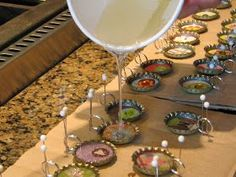 Step by step how to make Bottle Cap Charms