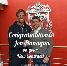 Congratulations to Jon Flanagan on his new contact! Picture taken from @liverpoolfc #LFC #Flanagan #JonFlanagan #Contract #NewContract #scousecafu #cafu #YNWA #LiverpoolFC #PremierLeague