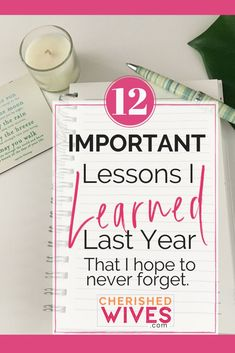 12 Things I Learned and Re-Learned This Year