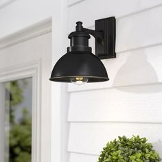 Greet guests with a warm and welcoming glow before you even reach the front door with this bold barn light, a must-have for any modern farmhouse. Designed to live outdoors, this luminary is built stro Outdoor Barn Lighting, Outdoor Ceiling Fans, Outdoor Sconces, Outdoor Light Fixtures, Outdoor Wall Lantern, Outdoor Walls, Outdoor House Lights, Outside Lights On House, Exterior Light Fixtures