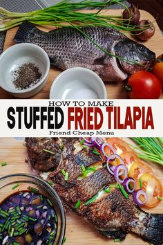 Stuffed Fried Tilapia with Pinoy Recipes. Tilapia Fish is a common Filipino Dish and economical price. This Recipe can be Grill or fry depends on your cravings or want. Filipino Tilapia Recipe, Whole Fish Fry Recipe, Fish Recipe Filipino, Fried Whole Fish, Whole Fish Recipes, Filipino Dishes, Filipino Food, Fried Fish, Filipino Recipes