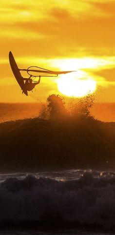 Fun in the sun: Olya Raskina windsurfing in Cape Town. http://win.gs/1gObnRU Image: Kirill Umrikhin #windsurfing #olyaraskina