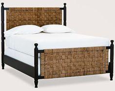 basket weave bed with frame