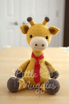 Amigurumi haak patroon Stanley de Giraffe door littlemuggles