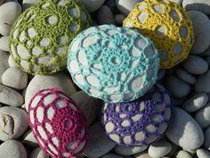 Crocheted rocks...