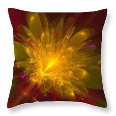 Flower Throw Pillow featuring the digital art Tropical Flower by Svetlana…