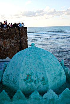 Saouira, Moroco. Dome of a shrine.