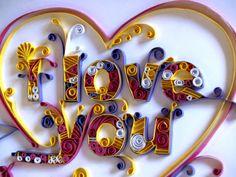 Quilling I Love You by Rafael Horta, via Behance