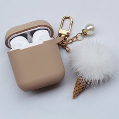 Protect your Airpods, with a durable case designed just for them. Find more unique gadgets at Apollo Box! Cute Ipod Cases, Cute Headphones, Apollo Box, Accessoires Iphone, Aesthetic Phone Case, Accesorios Casual, Air Pods, Airpod Case, Iphone Accessories