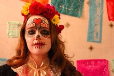Cuisine en Locale hosted their 3rd annual Day of the Dead celebration in Somerville on Saturday night.  Nora Jaenicke of Somerville sported traditional Day of the Dead makeup to Cuisine en Locale's celebration.