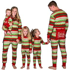 9424bcfb7d Plus Size Matching Family Christmas Pajamas Set - Long Sleeve Casual Loose