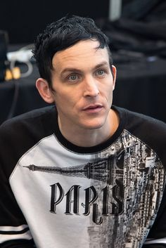 Robin Lord Taylor poses in the press room for the 'Gotham' panel during Comic-Con Day 4 at The Jacob K. Javits Convention Center on October 11, 2015 in New York City.