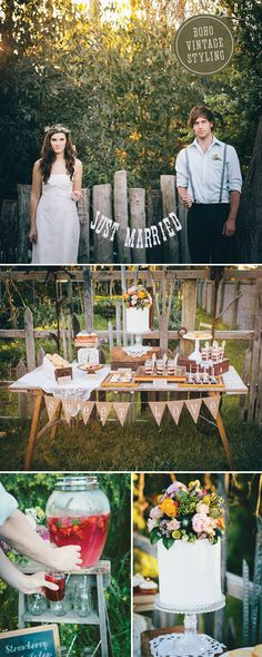 This gorgeous styled photoshoot from Pretty Willow Prop Hire is so pretty - I love all of the rustic touches to it as well. Boho Wedding, Summer Wedding, Wedding Bells, Wedding Reception Decorations, Wedding Receptions, Sister Shower, Boho Fashion, Vintage Fashion, Wedding Rentals