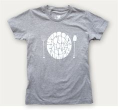 """""""Support your local farmers"""" t-shirt, printed on grown-in-America organic cotton. Love it."""