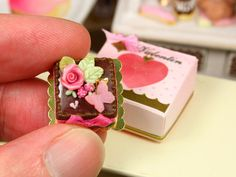 Valentine's Day Pink and Chocolate Cake in by ParisMiniatures, $60.00