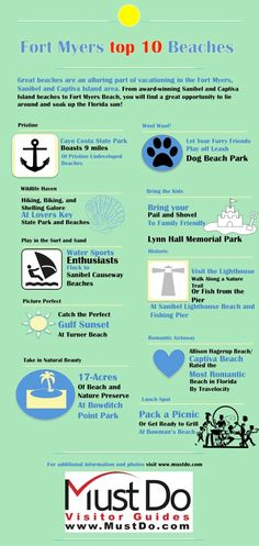 Must Do Visitor Guides Fort Myers Top 10 Beaches infographic
