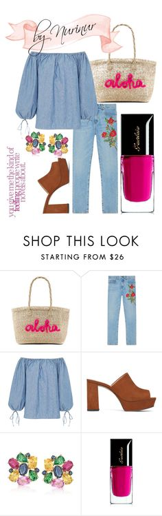 """""""Fab!"""" by nurinur ❤ liked on Polyvore featuring Kayu, Gucci, MDS Stripes, Vince Camuto, Ross-Simons and Guerlain"""