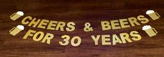 Cheers & Beers Banner 30th birthday banner by PoshPrettyPaper
